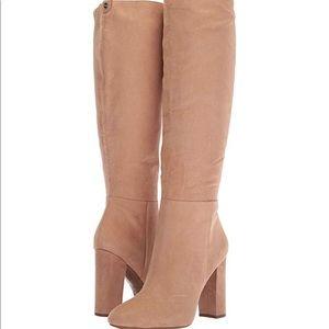 Sam Edelman beige knee high boots